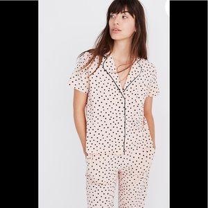 Madewell painted heart Pajama set New size xxs